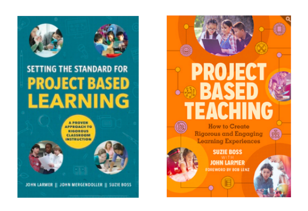 book covers for 'Setting the Standard' and 'Project Based Teaching'