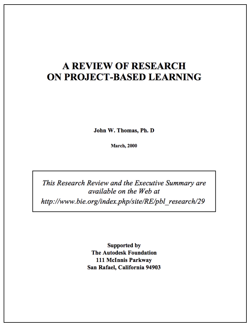 Review of PBL Research