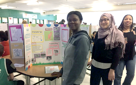 students at PBL project presentation