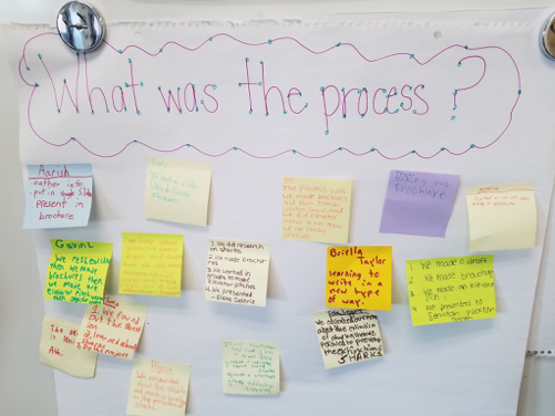 """What is the process? ""board for a PBL activity"
