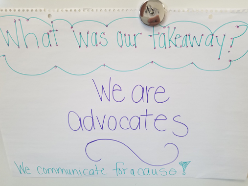 """What was our takeaway? ""board for a PBL activity"
