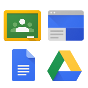 icons of Google apps that can be used for PBL