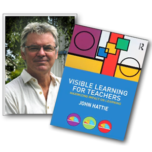 photo of author and cover of the book Visible Learning for Teachers