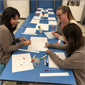 adults at a table participating in a PBL experience