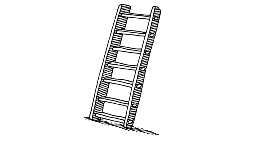 illustration of a step ladder
