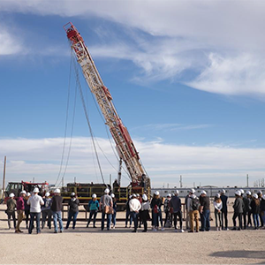 Students hear from oil field workers and see a completion rig in action.