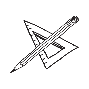 pencil and square tool illustration