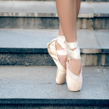 Ballerina feet en pointe